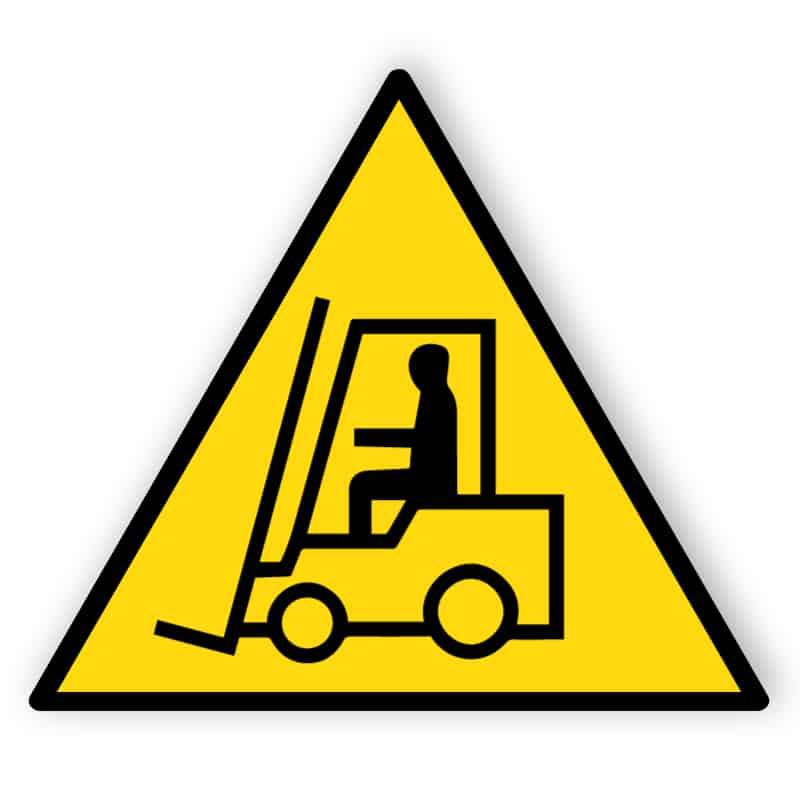 Warnung vor Flurförderzeugen