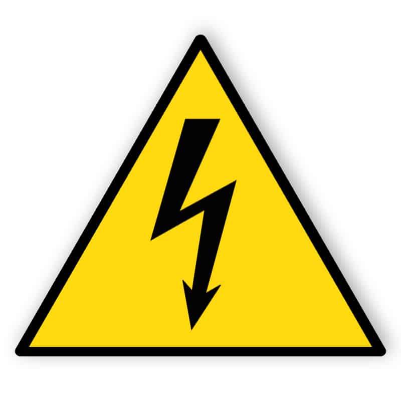 Warnung vor gefährlicher elektrischer Spannung