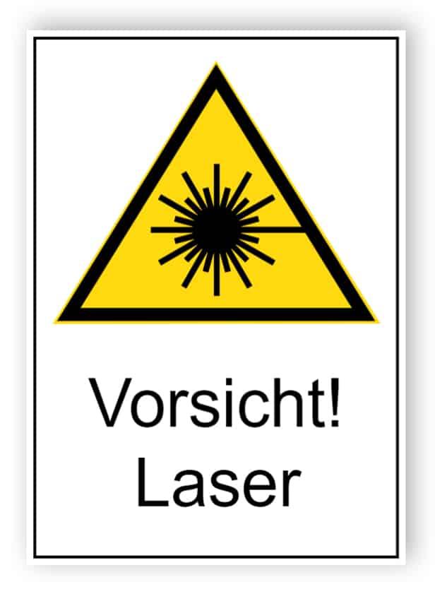Vorsicht! Laser