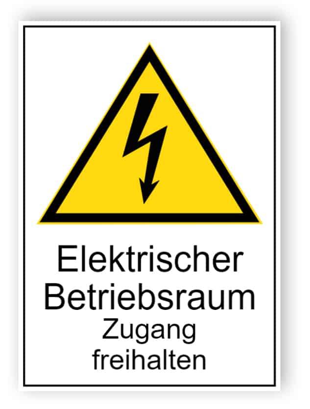 Elektrischer Betriebsraum Zugang freihalten