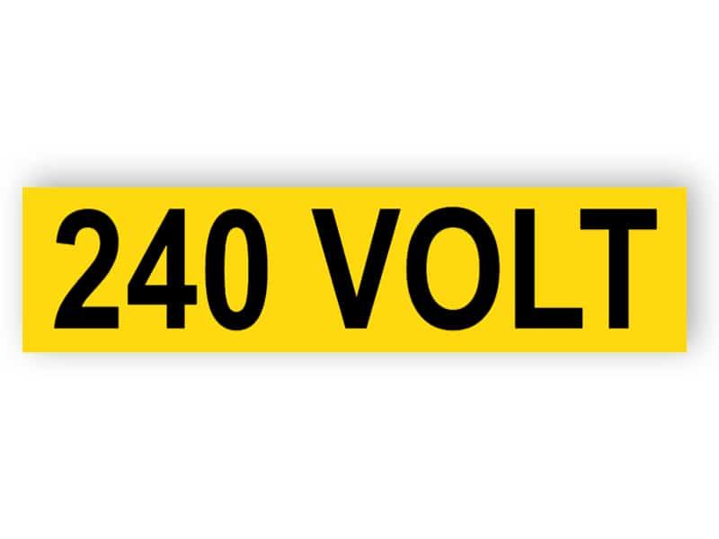 240 Volt (aufkleber)