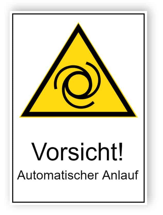 Vorsicht! Automatischer Anlauf
