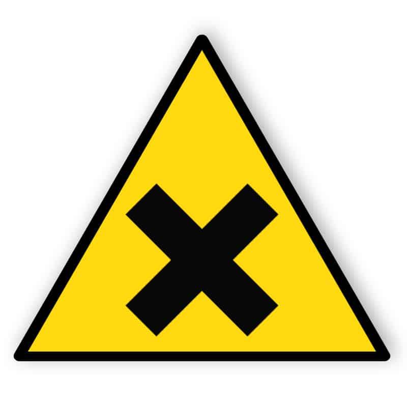 Warnung vor gesundheitsschädlichen Stoffen