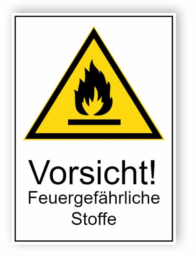 Vorsicht! Feuergefährliche Stoffe