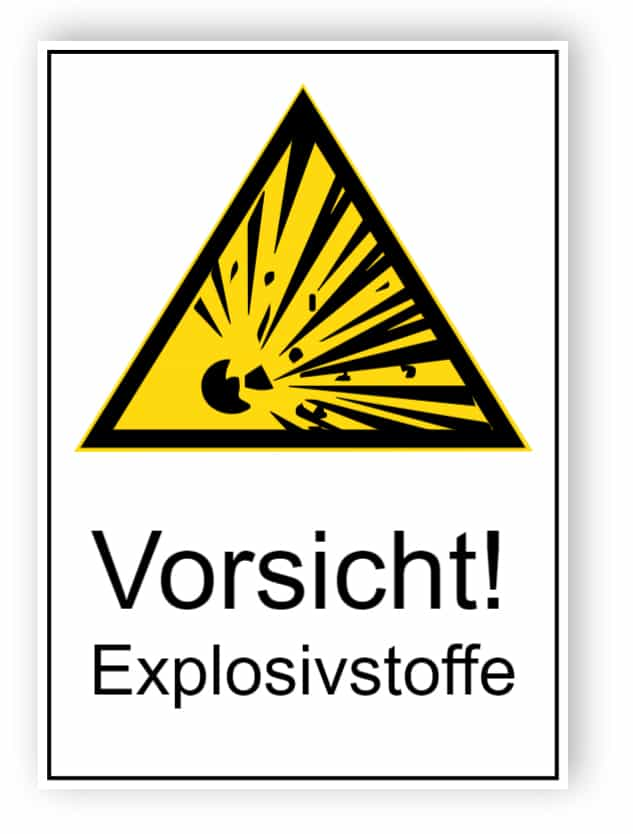 Vorsicht! Explosivstoffe