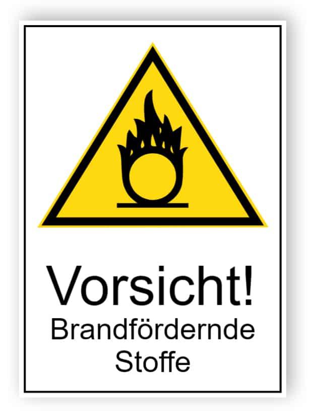 Vorsicht! Brandfördernde Stoffe