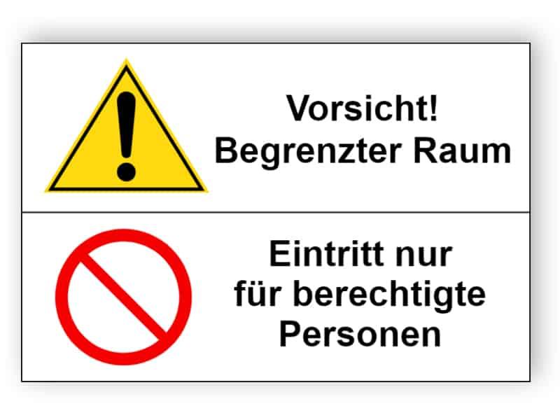 Vorsicht! Eintritt nur für berechtigte Personen