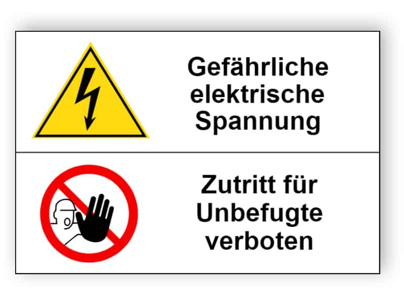 Gefährliche elektrische Spannung