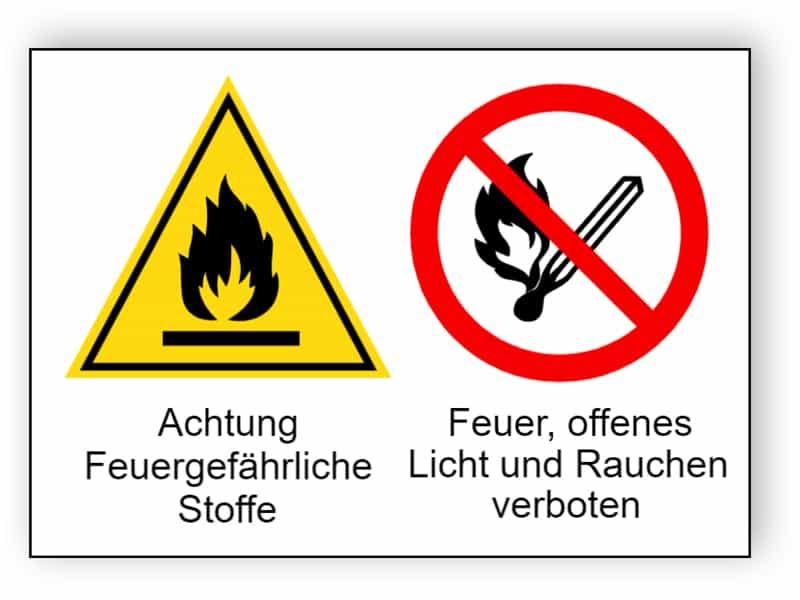 Achtung Feuergefährliche Stoffe