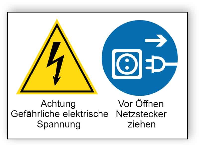 Achtung Gefährliche elektrische Spannung