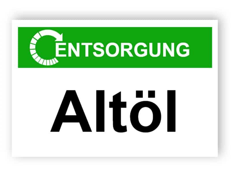 Entsorgung / Altöl