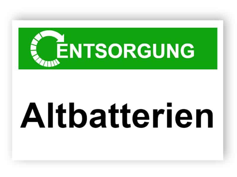 Entsorgung / Altbatterien