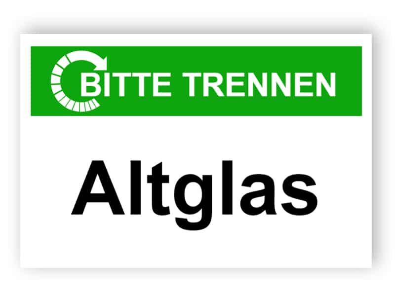 Bitte trennen / Altglas
