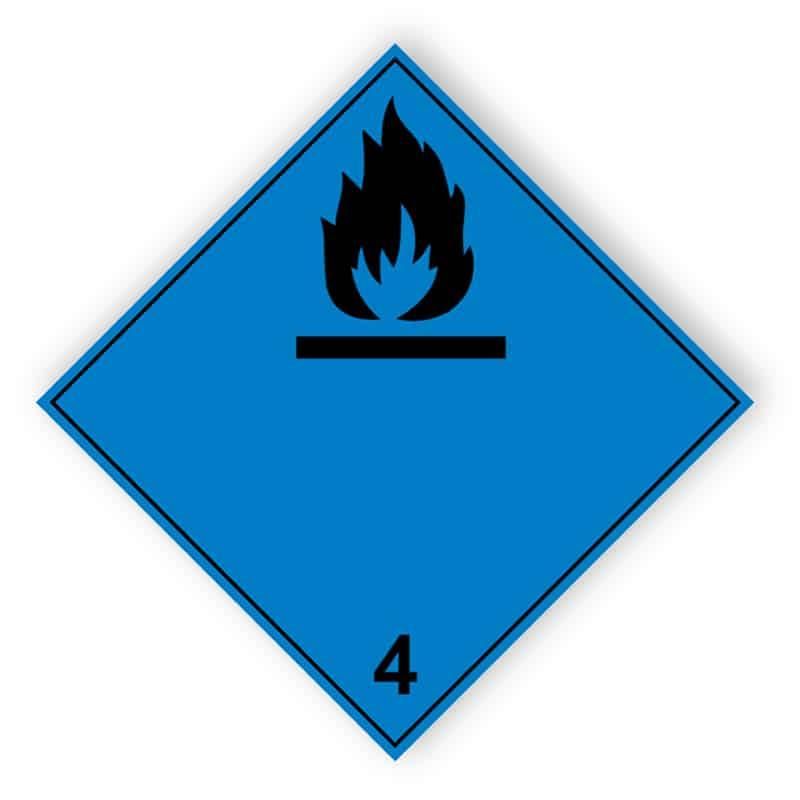 Entzündliche Gase bei Berührung mit Wasser