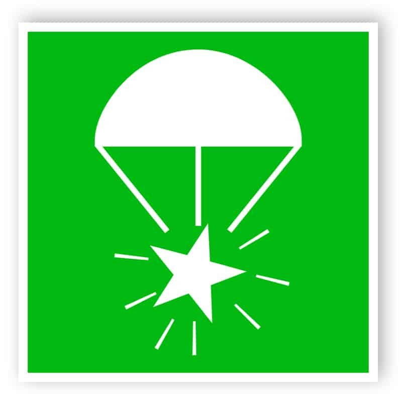 Fallschirmleuchtrakete