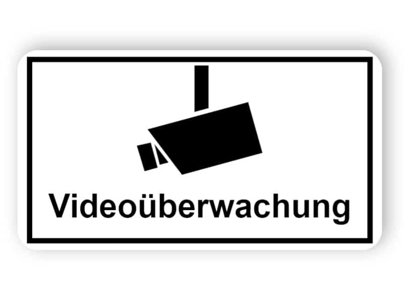 Schilder Videoüberwachung