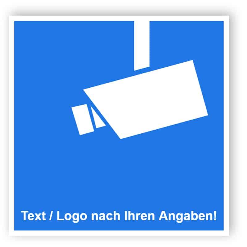 Praxisbewährtes Video-InfoSchild mit Text und/oder Logo