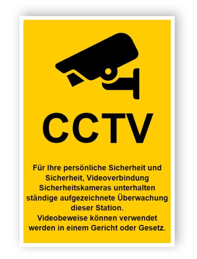 CCTV-Schild mit dem Text