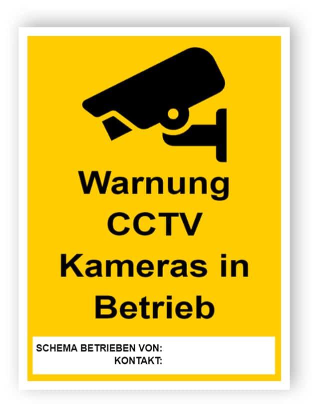 CCTV-Zeichen mit leerem Textfeld