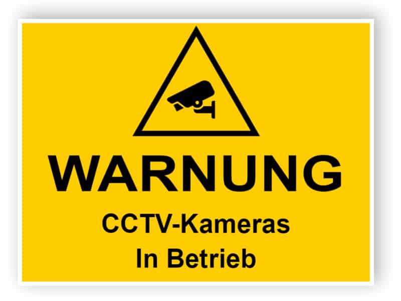 CCTV-Zeichen - CCTV-Kameras in Betrieb