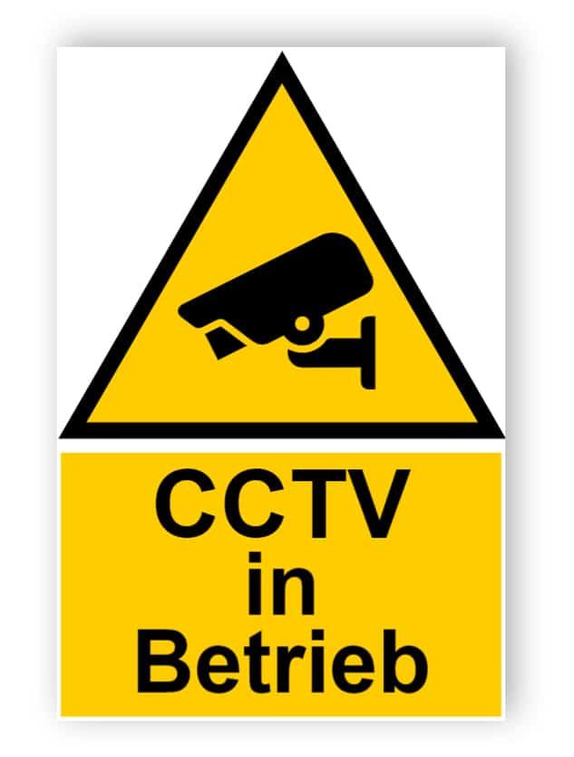 CCTV in Betrieb Schild