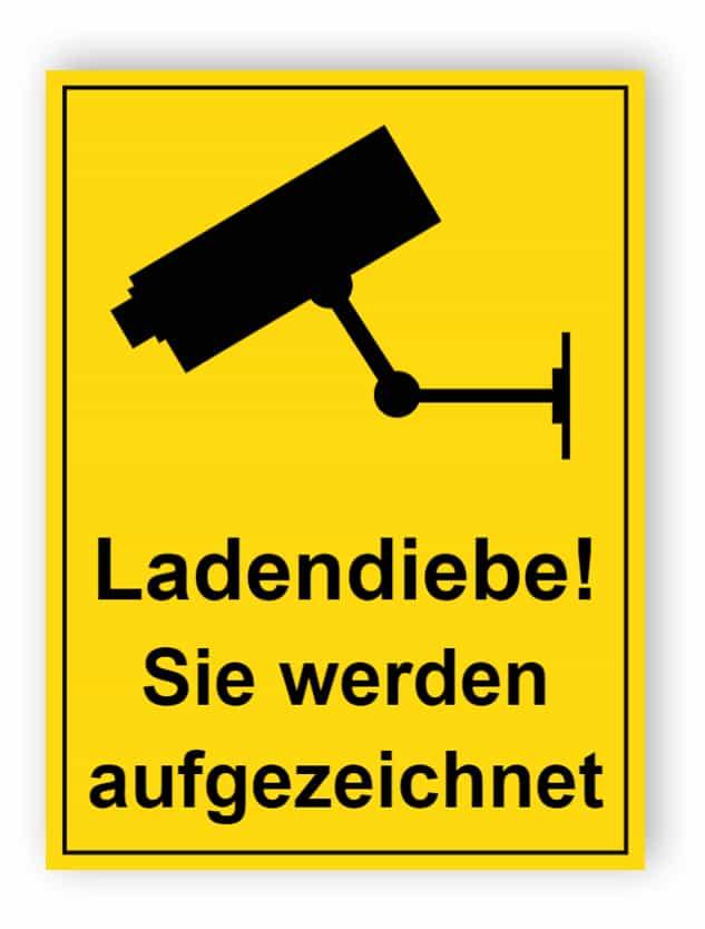Shoplifters - Sie werden aufgezeichnet Schild