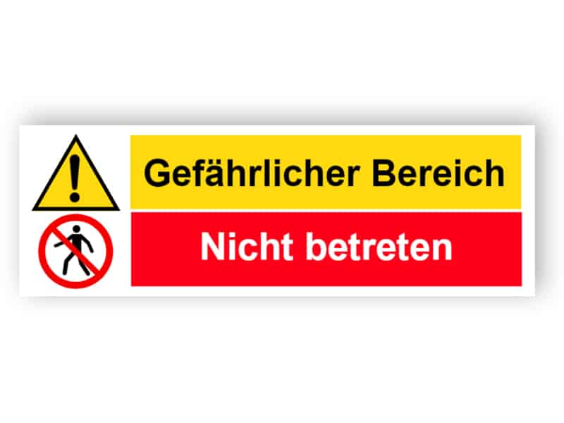 Gefährlicher Bereich / Nicht betreten - Landschaft Schild