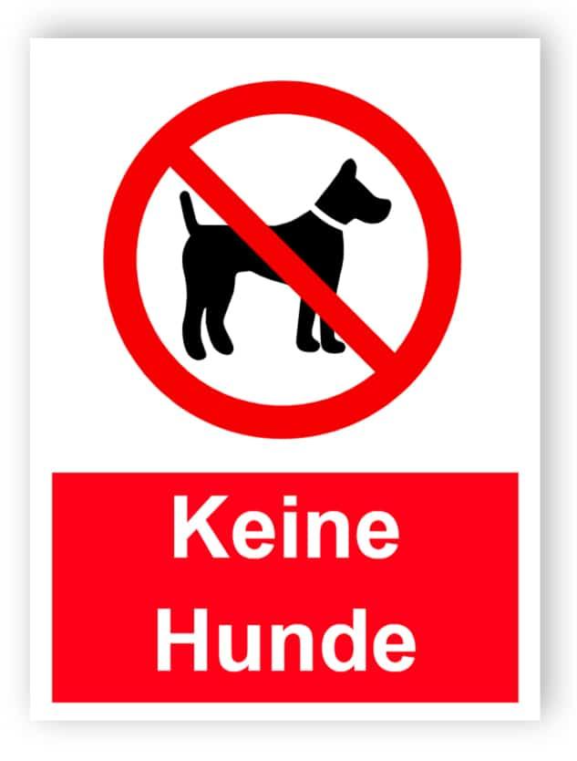 Keine Hunde Schild
