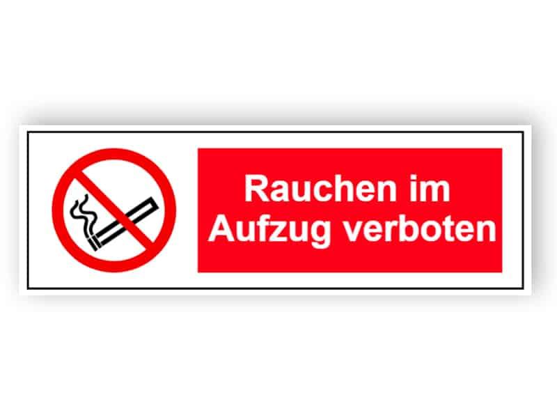 Rauchen im Aufzug verboten