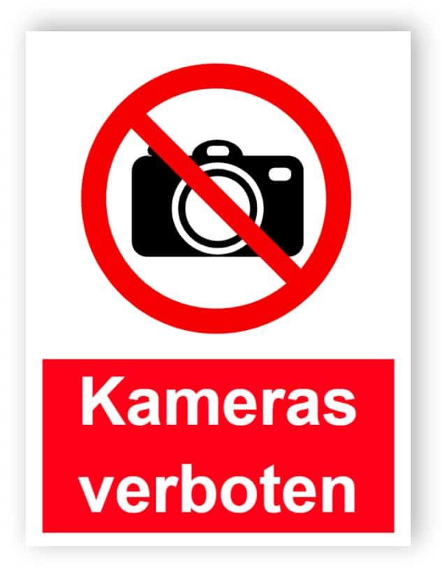Kameras verbotenes Schild