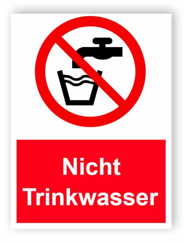 Nicht Trinkwasser Schild