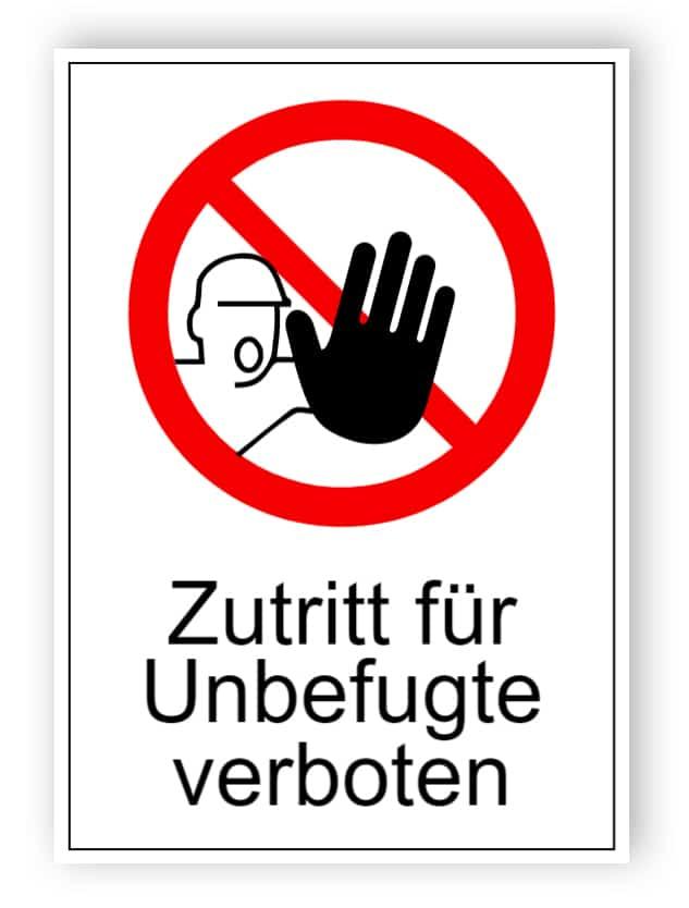 Zutritt für Unbefugte verboten 2