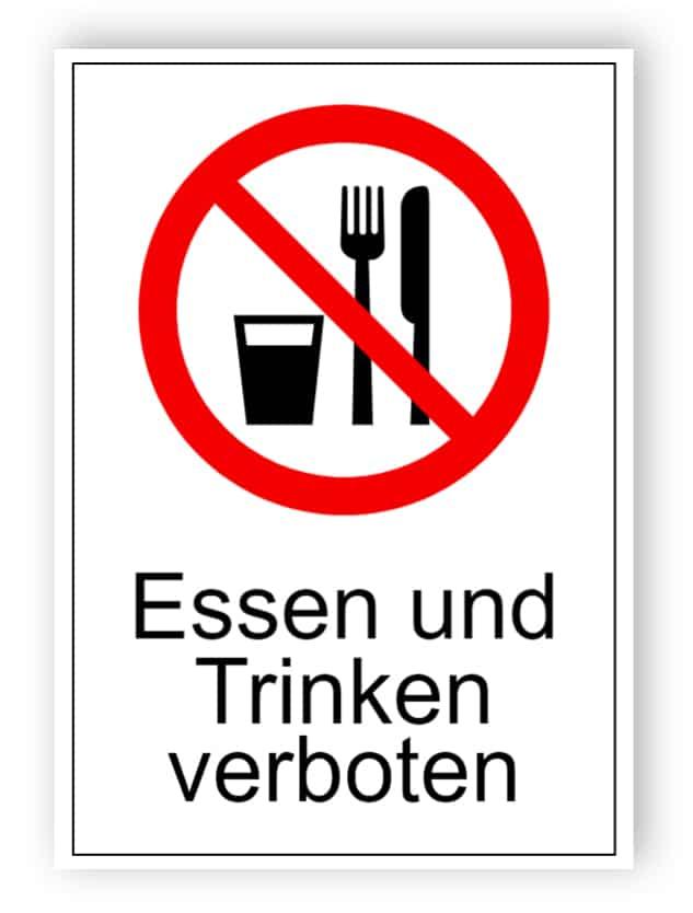 Essen und Trinken verboten 2