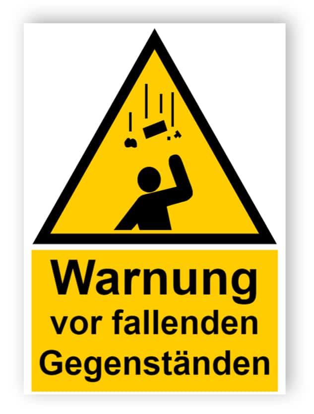 Warnung vor fallenden Gegenständen