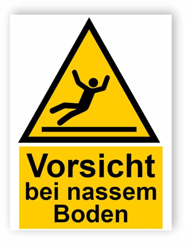 Vorsicht bei nassem Boden