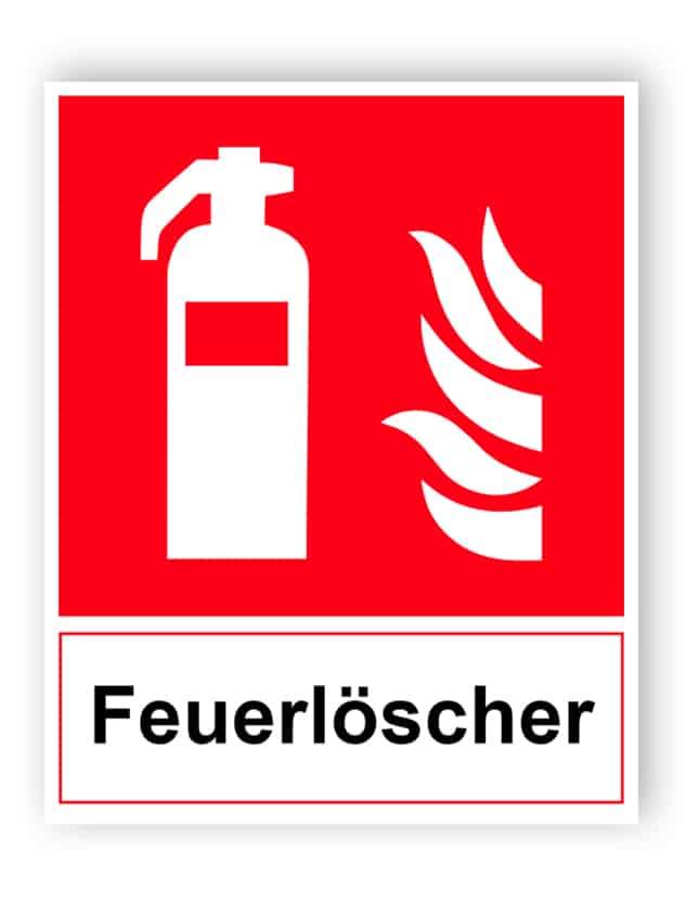 Feuerlöscher Schild
