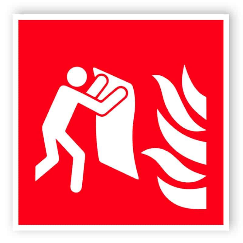 Feuerlöschdecke Schild