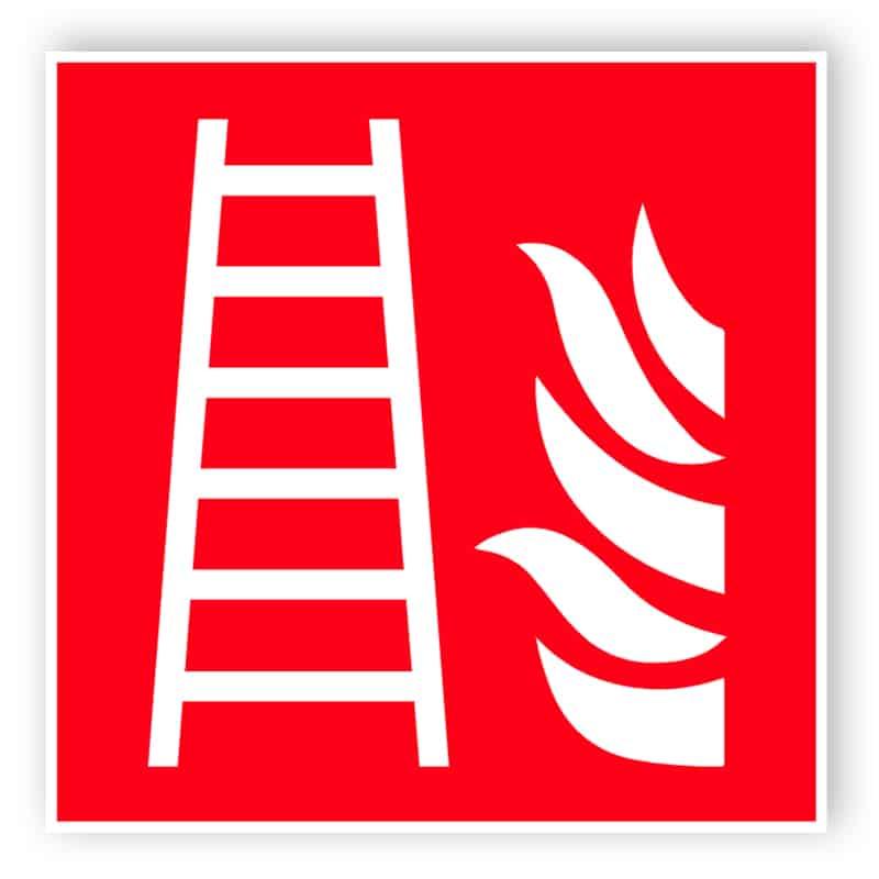 Feuerleiter Schild