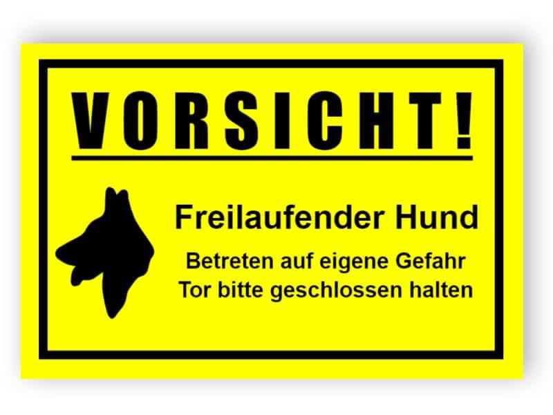 Vorsicht Hund Schild - Hundeschild Wetterfest