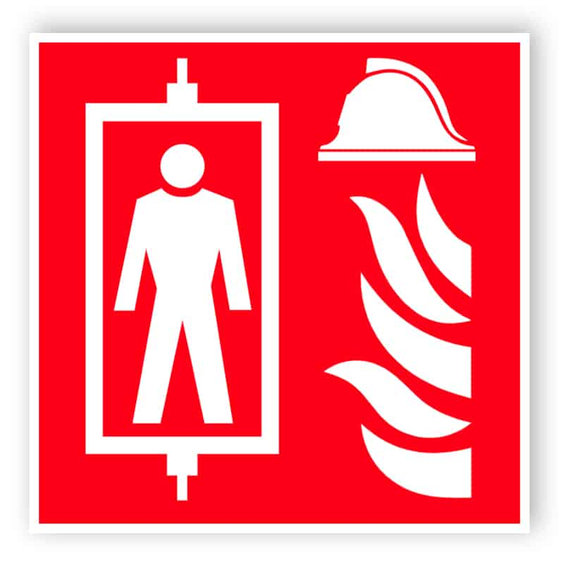 Feuerwehraufzug Zeichen