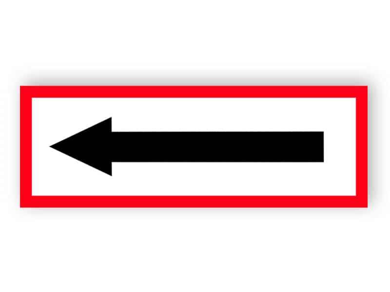 Richtungspfeil rot
