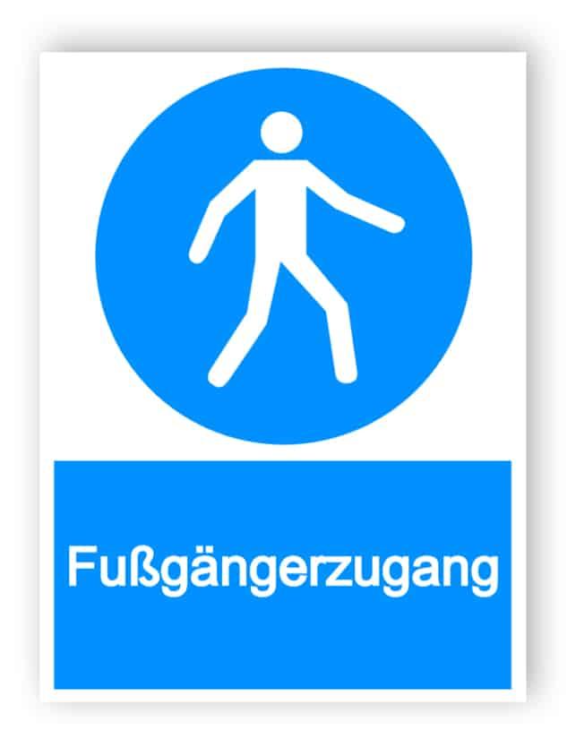 Fußgänger Schild