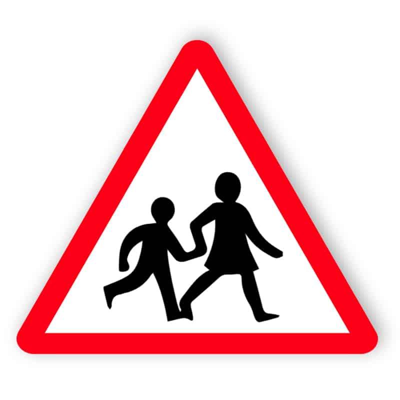 Kinder Kreuzung Zeichen