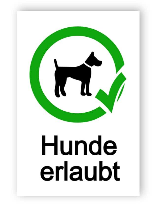 Hunde erlaubt Schild