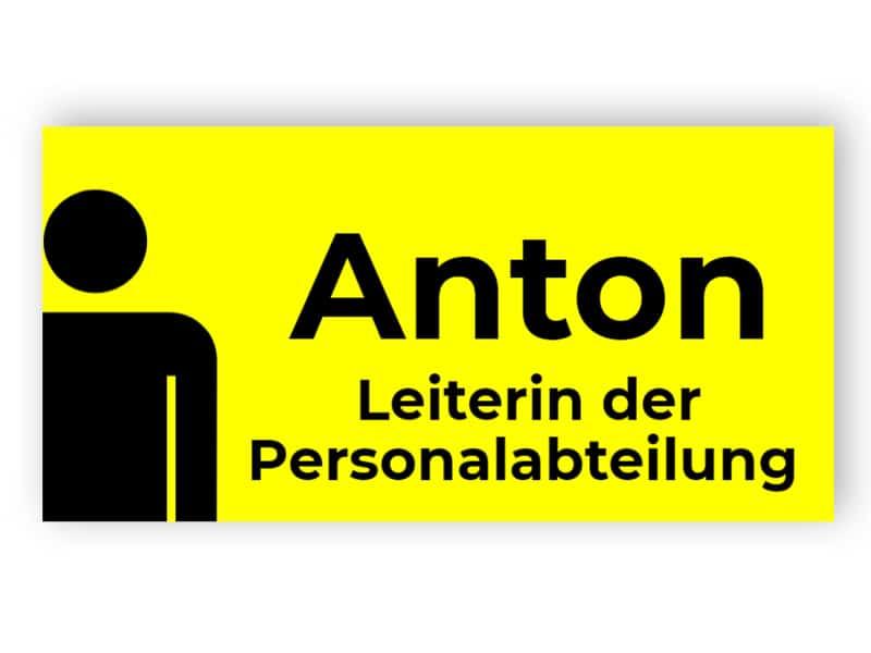 Gelbes Namensschild 2