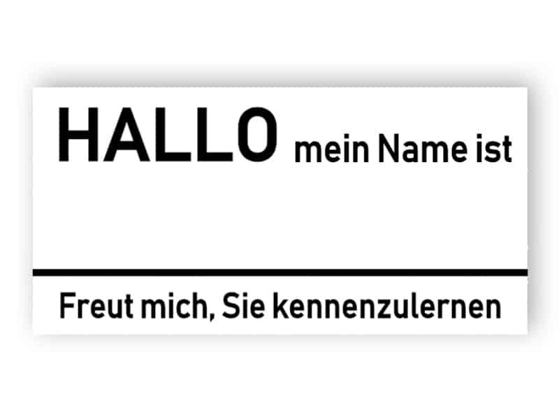 Mein Name ist - Namensschild