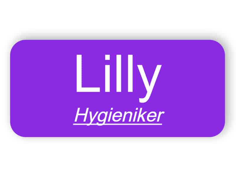 Namensschild für Hygieniker