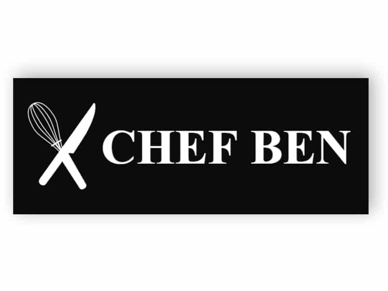 Schwarz Namensschild für Koch
