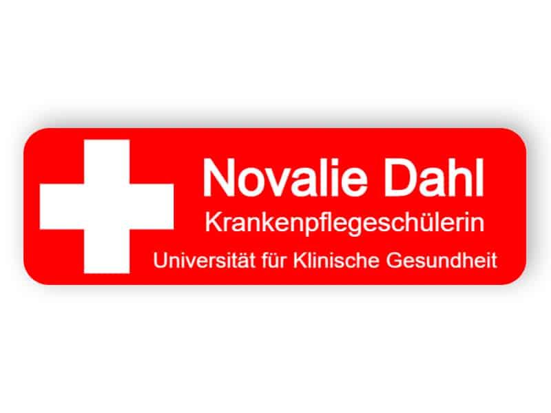 Namensschild für Krankenschwester