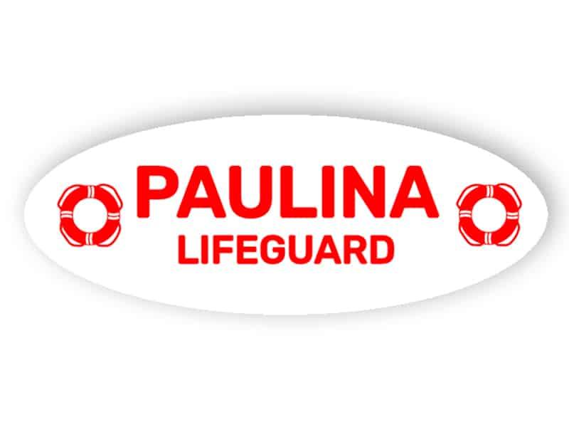 Rettungsschwimmer Namensschild